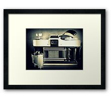 Camera And Film Framed Print