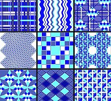 Blues in the Night - Quasi-Quilt by IvieLeagueJots