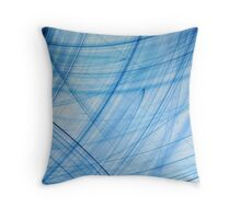 Blue Poles Throw Pillow