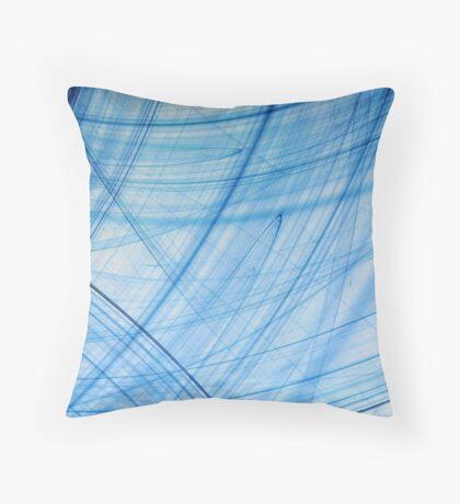 Blue Poles Throw Pillow