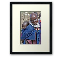 Maasai Mother and Child, Tanzania Framed Print