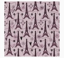 Paris Pink with Eiffel Tower Kids Clothes