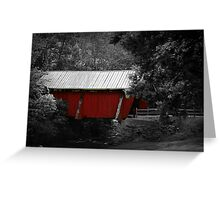 The Old Covered Bridge Greeting Card