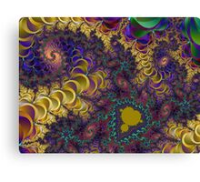 A Colorful Chaotic Lightening Storm Canvas Print