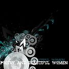 the new poetry and beautiful women banner  by S .