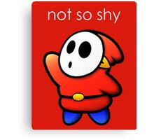 Not So Shy Canvas Print