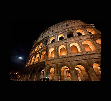 Colosseum at Night by Ren Provo