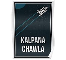 KALPANA CHAWLA - Women In Science Collection Poster