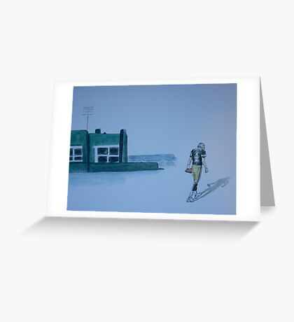 The gold has left green bay Greeting Card