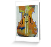 Violin Butterflies Greeting Card