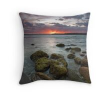 Smoldering dusk Throw Pillow