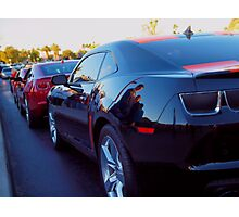 Camaros In A Row Photographic Print