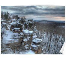 Garden of the Gods Winter Poster