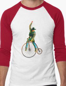 Cowboy Rides a Bike Men's Baseball ¾ T-Shirt