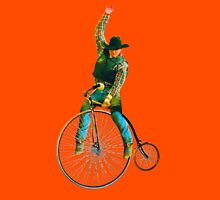 Cowboy Rides a Bike Unisex T-Shirt