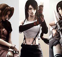 Final Fantasy 7 - Aerith & Tifa (1) by sinaki