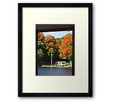 Fall day on the lake Framed Print