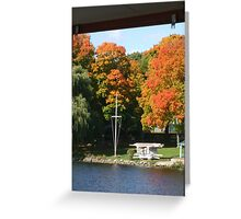 Fall day on the lake Greeting Card