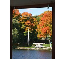 Fall day on the lake Photographic Print