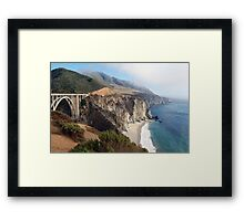 Coastal Fog Lifting Framed Print