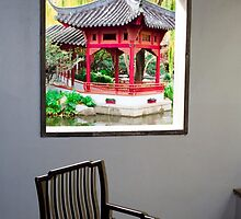 Looking out the window, Chinese Gardens, Australia by Michelle Lia