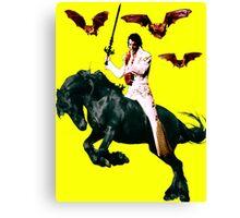 Heavy Metal Elvis Summons the Bats Canvas Print