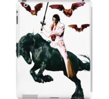 Heavy Metal Elvis Summons the Bats iPad Case/Skin