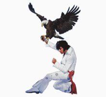 Elvis Hunts with an Eagle Kids Tee