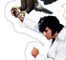 Elvis Hunts with an Eagle Sticker
