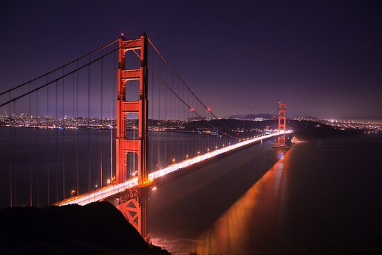 Golden Gate Bridge at Night by Nickolay Stanev