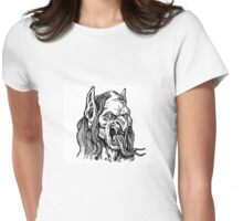 Fangy Snaketongue Womens Fitted T-Shirt