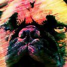 Grumpy Pink Pug Face by Darlene Lankford Honeycutt