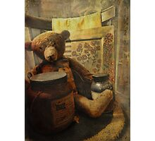 Country Christmas Bear Photographic Print