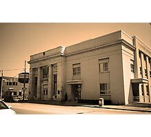 Vintage Bank Building, Niles, Ohio Photographic Print