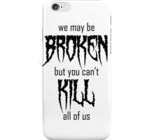 Motionless In White lyrics - Black  iPhone Case/Skin