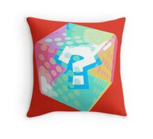 Mario Kart Item Block Throw Pillow