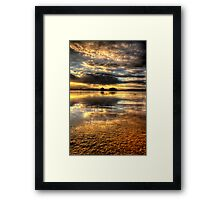 Smooth Sunset-Second Look Framed Print