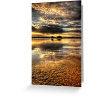 Smooth Sunset-Second Look Greeting Card