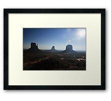 Monument Valley Morning Framed Print