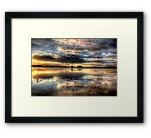 Smooth Sunset 2-Second Look Framed Print