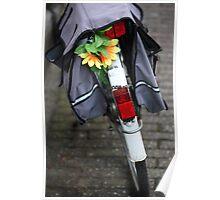 Bike in amsterdam, netherlands. Poster