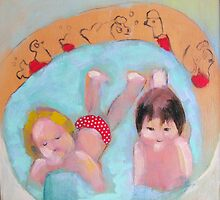 wading pool with polka dots by donnamalone