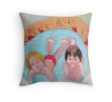 wading pool with polka dots Throw Pillow