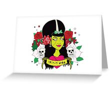 Forever Dead Zombie Girl Greeting Card