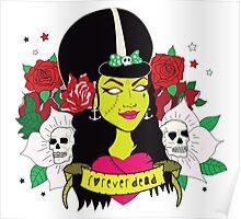 Forever Dead Zombie Girl Poster