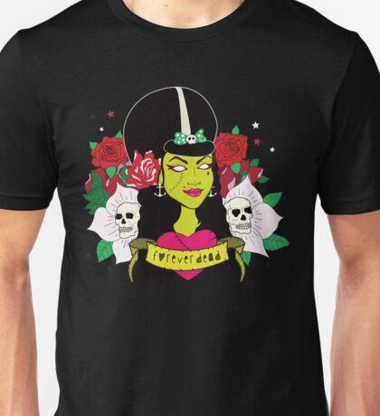 Forever Dead Zombie Girl Unisex T-Shirt