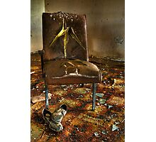 Grunge Chair Photographic Print