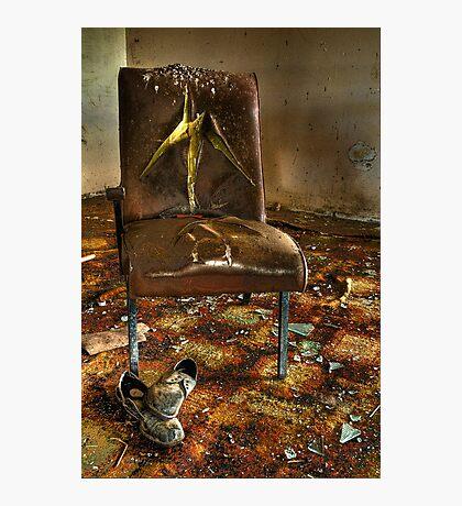 Grunge Chair Photographic Print