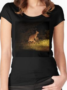 Kangaroo Family Women's Fitted Scoop T-Shirt