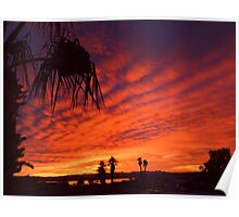 Christmas Eve Sunset Poster
